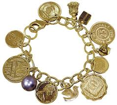 charm bracelet jewelry images Goldtone layered foreign coins charm bracelet coin jewelry page 001