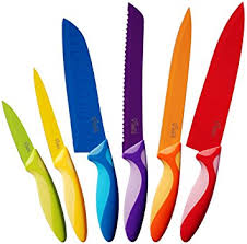 coloured kitchen knives set easy grip kitchen knife set 6 modern coloured stainless