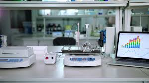 lab researcher working place researcher lab background modern