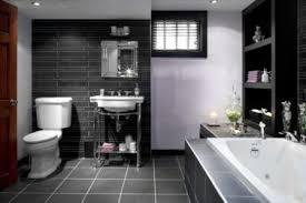 meetings bathroom retro black white gray and yellow decor grey