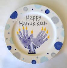 hanukkah plates happy hanukkah handprint plate design all fired up in richmond