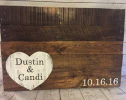 Pallet Wedding Decor Alternative Guest Book Wood Pallet Wedding Sign Wood Wedding
