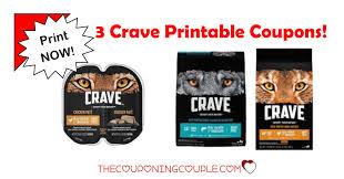 food coupons 3 crave pet food printable coupons dog and cat food