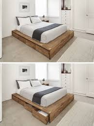 Solid Wood Platform Bed Plans by Bed Frames Rustic Platform Beds Rustic Wood Bed Frame Plans