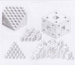 lucid brain drain isometric shapes drawings and doodles