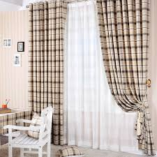Country Plaid Curtains Style Of Plaid Curtains For Living Room Create Awesome Living