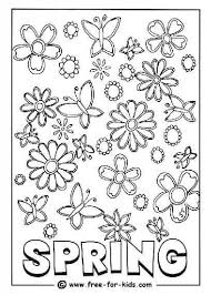 awesome lovely spring coloring pages free printable
