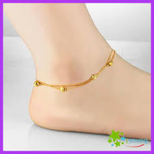 gold ankle bracelet chains images New arrival women 39 s anklets copper plating 18k yellow gold foot jpg