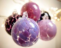 ornaments purple glass etsy