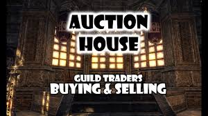 eso how auction house works buying and selling youtube