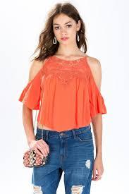 peekaboo blouse s blouses peekaboo shoulder blouse a gaci