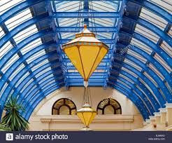 Winter Gardens Blackpool Postcode - lamps and roof in the art deco arcade the entrance to blackpool