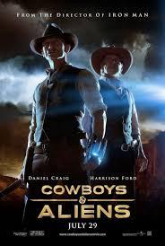 film de cowboy inspiração cartazes de cinema cowboys aliens aliens movie