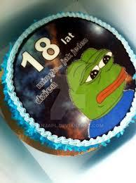Meme Birthday Cake - best bday cake ever sad frog meme by anjapl on deviantart
