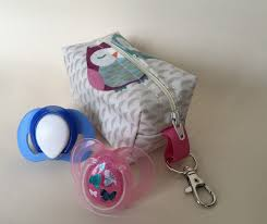 dummy case soother case pacifier holder baby shower gift owls