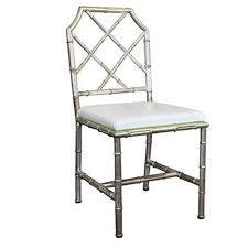 bamboo chair italian faux chrome bamboo chair at 1stdibs