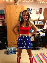Diy Womens Halloween Costume Ideas Cool Homemade Wonder Woman Costume Woman Costumes Wonder Woman