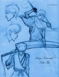 ichigo kurosaki sketch 1 by darkmane on deviantart