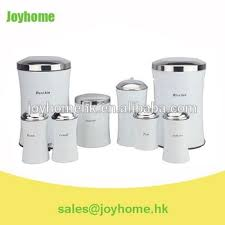 white colored stainless steel kitchen canister set of 8 buy