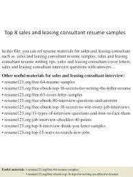 resume template sles best of leasing consultant resumes top 8 sales and leasing