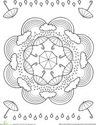 Rainy Day Worksheet Education Com Rainy Day Coloring Pages