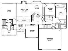 One Story Ranch House Plans One Story 40x50 Floor Plan Home Builders Single Story