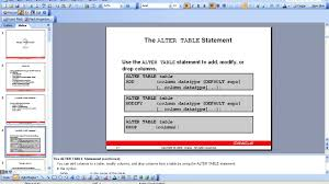 Alter Table Modify Column Oracle Manage Schema Objects Youtube
