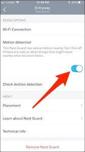 nest motion sensor light how to disable motion detection on the nest guard
