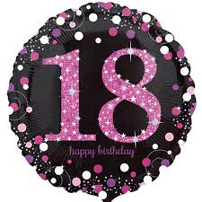 balloons for 18th birthday celebration pink 18th birthday balloon delivered inflated in uk