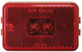 red led marker lights pm m129r red led clearance side marker light foxtail lights