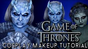 game of thrones night king cosplay halloween costume makeup