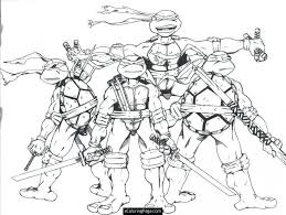 ninja coloring ninjas pages download teenage mutant turtles