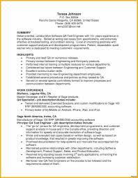 sle cv for quality assurance resume sles it quality assurance software tester sle for