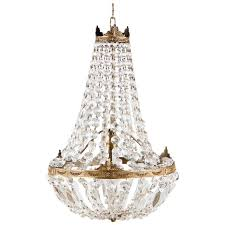 French Empire Chandelier Lighting French Empire Style Montgolfier Crystal Chandelier 1920s At 1stdibs