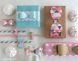bow wrapping paper paper bow templates in four sizes