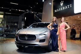maserati suv maserati suv boasts jeep chassis at auto show