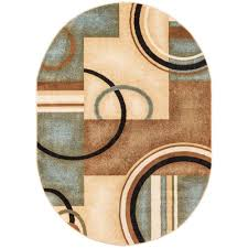 Oval Area Rugs Well Woven Barclay Arcs And Shapes Light Blue 5 Ft 3 In X 6 Ft