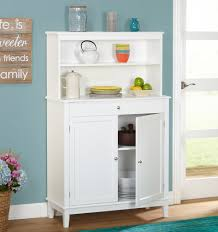 Distressed White Kitchen Hutch Kitchen Buffet Hutch