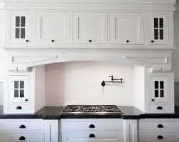 diy kitchen cabinet doors black accent wall white leaf murals