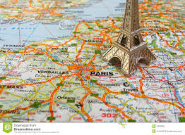 France On Map by Eiffel Tower On France Map Stock Photography Image 5262982