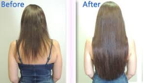 22 inch hair extensions before and after client photos