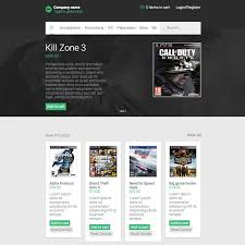 ecommerce video games responsive website template