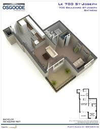 Bachelor Apartment Floor Plan by 700 Joseph 1st Month Free Selected Suites Gatineau Rental