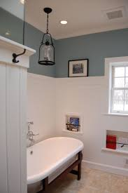Beadboard Wainscoting Height Bathroom Sky Blue Wall And Tall White Wainscoting Bathroom With