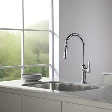 kraus kitchen faucet faucet com kbu14 in stainless steel by kraus