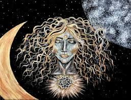 items similar to moon goddess 9x11 on etsy