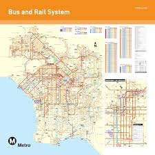 Los Angeles Area Map by Artifact 5 Los Angeles Public Transportation Map