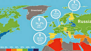 map europ gender equality a map of places in europe where are most