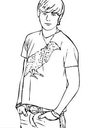 popular male student in high musical colouring page fun