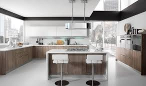 awesome italian modern kitchen design with two islands and wooden